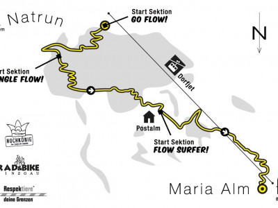 Trailmap Flowtrail Flow One - ein Bikepark in Salzburger Land