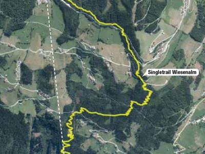 Trailmap Singletrail Zillertal Arena - ein Bikepark in Tirol